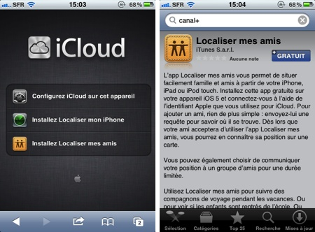 Localisation Mes Amis Iphone