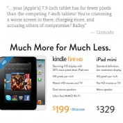 Amazon Kindle Fire HD contre iPad mini