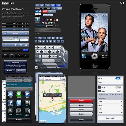 iOS6 GUI iPhone 5 PSD