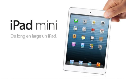 iPad mini de long en large
