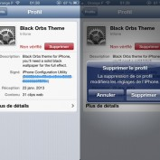 Desinstallation Profil theme iPhone 5