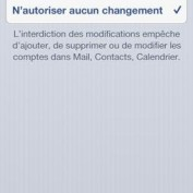 Faille changer compte Apple Restrictions