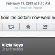 Tweet Alicia Keys iPhone