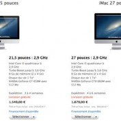 iMac 2012 delais expeditions retardes