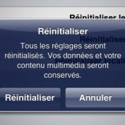 Reinitialiser iOS