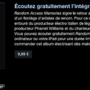 iTunes Daft Punk Album gratuit