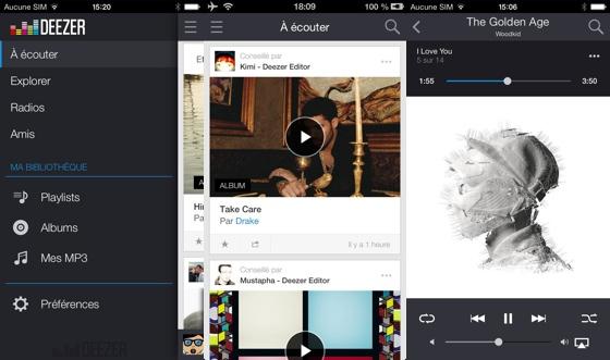 deezer pour iphone change d interface et ajoute le fil musical personnalis. Black Bedroom Furniture Sets. Home Design Ideas