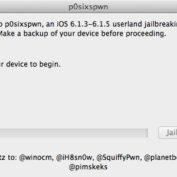 P0sixspwn Jailbreak untethered iOS 6.1.3 6.1.4 6.1.5 Mac