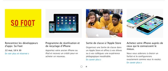 Apple Store France Reprise iPad
