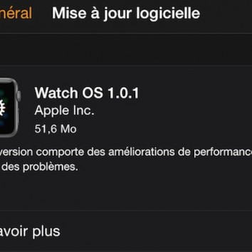 Apple Watch Watch OS 1.0.1 Disponible